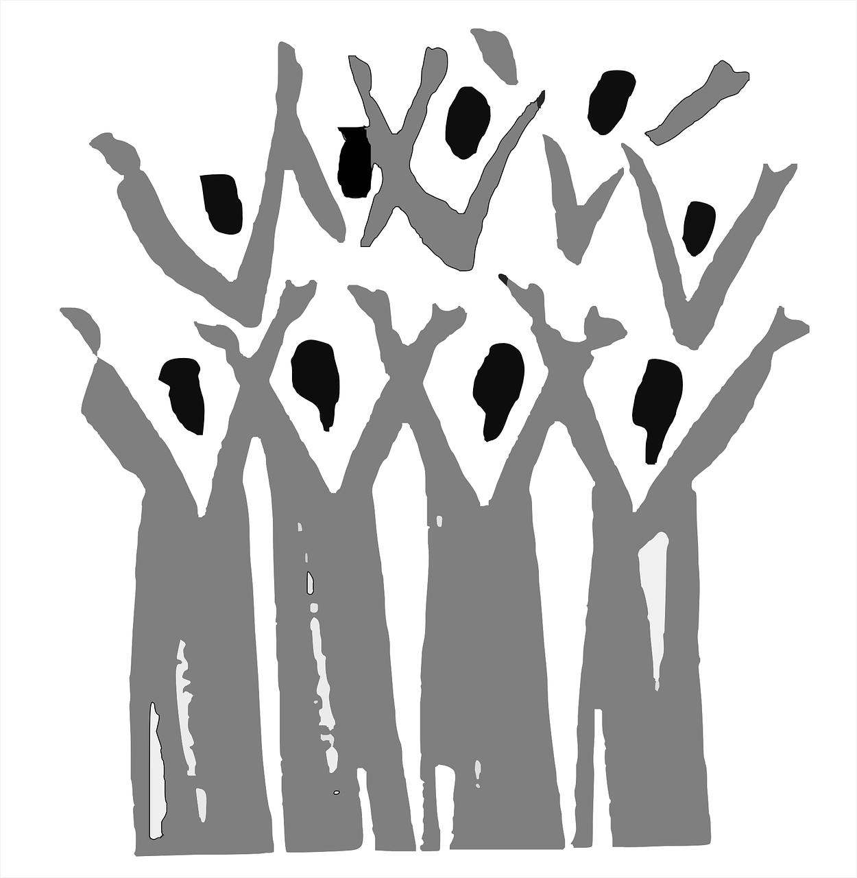 choir, gospel, people