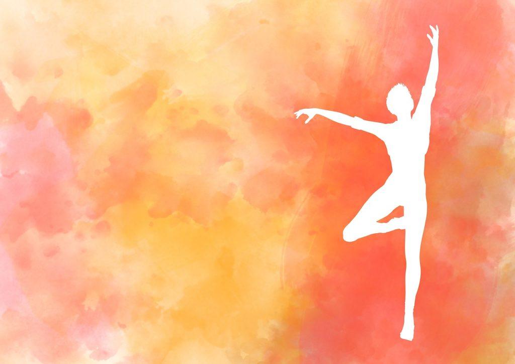 silhouette, women, dance